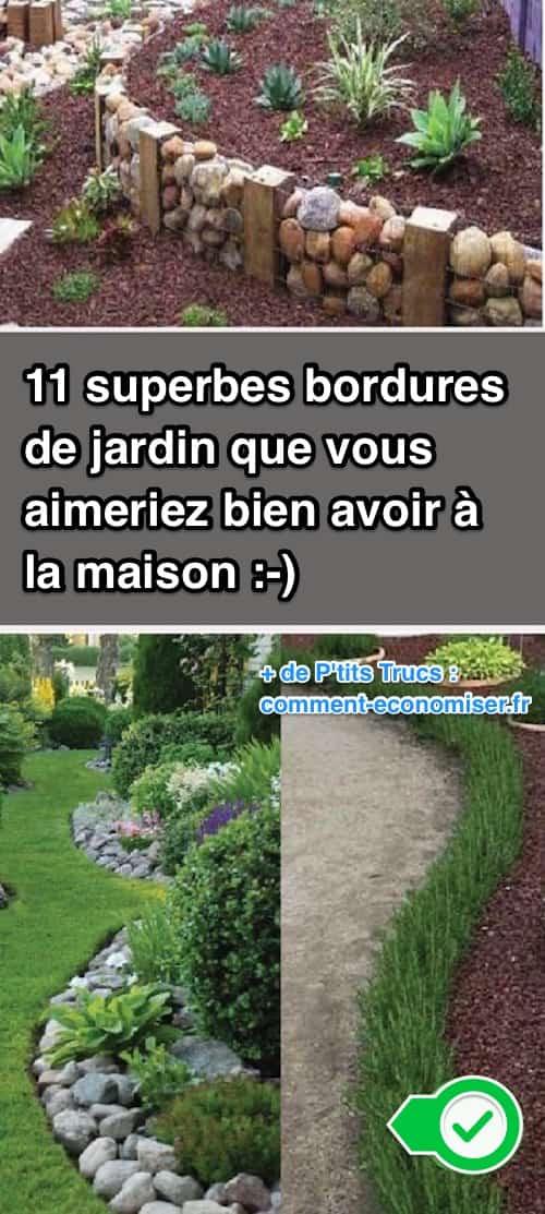 11 superbes bordures de jardin que vous aimeriez bien avoir la maison - Bordure jardin fait maison ...