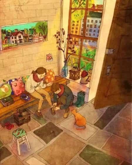 21 dessins adorables sur la vie de couple qui vous r chaufferont le coeur. Black Bedroom Furniture Sets. Home Design Ideas