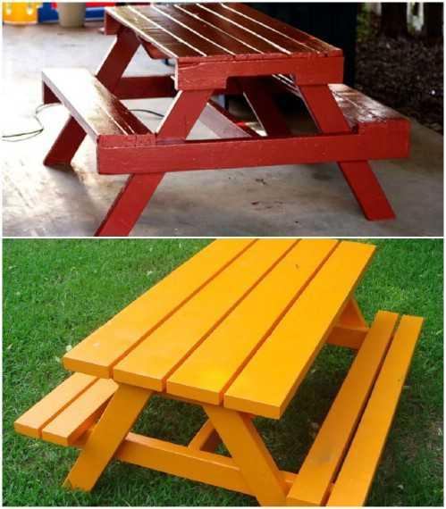 36 fa ons ing nieuses de recycler de vieilles palettes en - Fabriquer une petite table de jardin ...