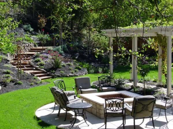 28 super id es de jardin r v l es par un paysagiste - Cheminee de jardin avec coin salon autour idees de decoration ...