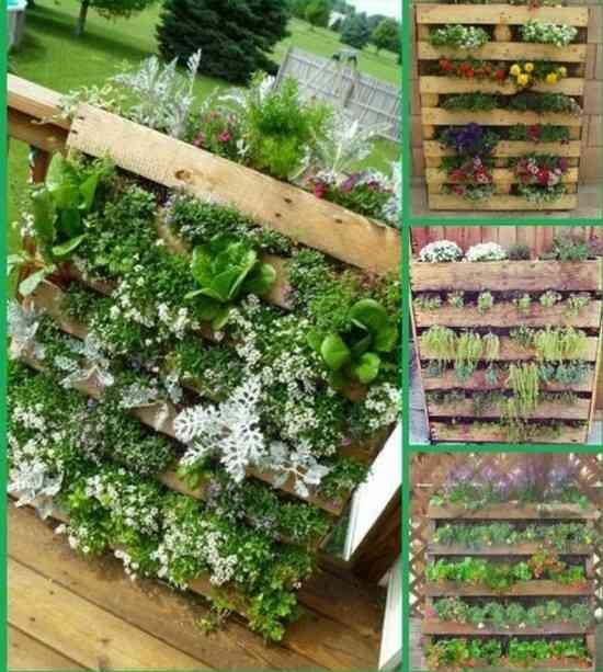 36 fa ons ing nieuses de recycler de vieilles palettes en for Mur vegetal avec palette en bois