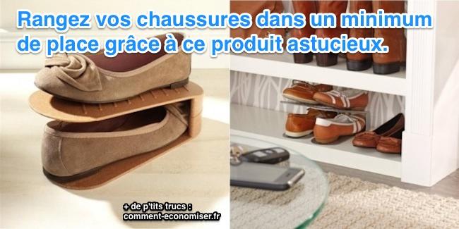 un produit etonnant pour ranger ses chaussures et gagner de la place. Black Bedroom Furniture Sets. Home Design Ideas