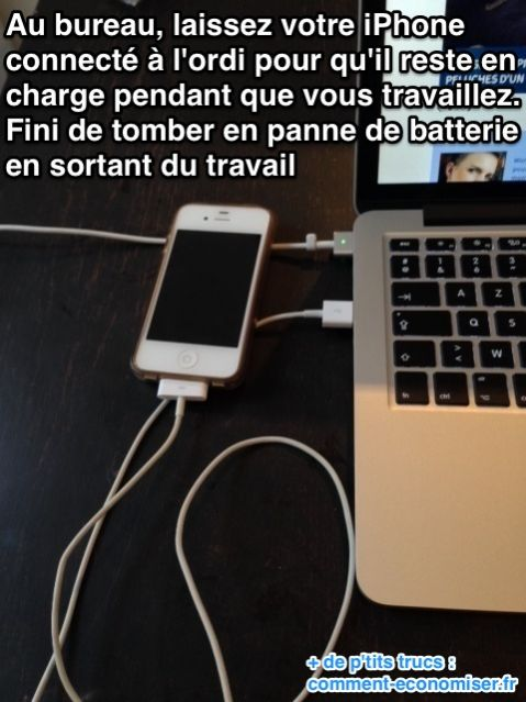 la meilleure astuce pour ne plus tomber en panne de batterie iphone. Black Bedroom Furniture Sets. Home Design Ideas