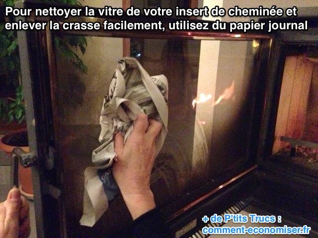 cheminee insert nettoyage vitre