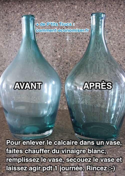 L 39 astuce pour liminer le calcaire dans un vase sans frotter for Astuce pour enlever le calcaire