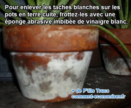 Taches blanches sur les pots de fleurs le truc simple pour s 39 en d barra - Marmite en terre cuite ...