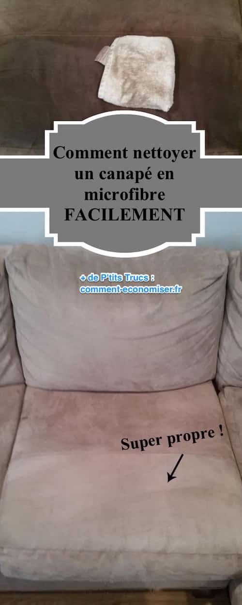 comment nettoyer un canap en microfibre facilement. Black Bedroom Furniture Sets. Home Design Ideas