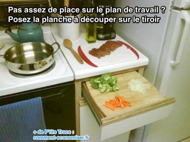 Pas assez de place sur le plan de travail de cuisine l for Planche pour plan de travail cuisine