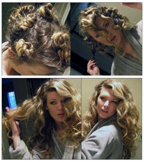 Faire boucler cheveux longs