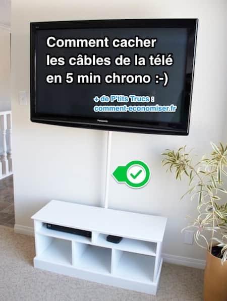 Comment cacher les c bles de la t l en 5 min chrono - Comment cacher une television ...