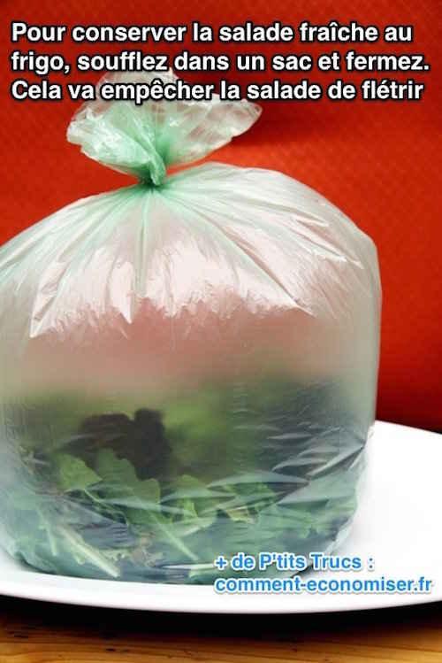 l 39 astuce g niale pour conserver une salade plus longtemps. Black Bedroom Furniture Sets. Home Design Ideas