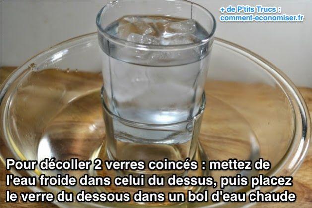 L 39 astuce pour d coller 2 verres coinc s ensemble for Decoller du crepis interieur