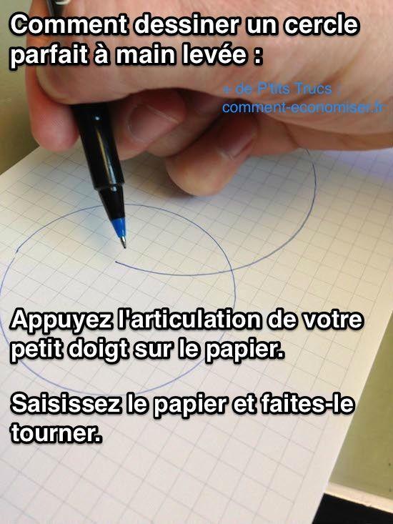 comment dessiner un cercle a main levee