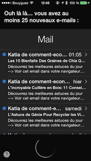 Comment faire lire ses emails à Siri iphone