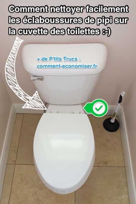 comment nettoyer les claboussures de pipi sur la cuvette des wc facilement. Black Bedroom Furniture Sets. Home Design Ideas