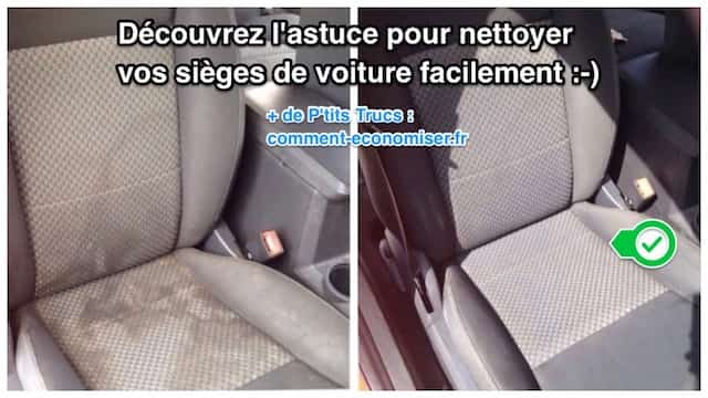 Comment nettoyer facilement vos si ges de voiture - Comment nettoyer un fauteuil en tissu blanc ...
