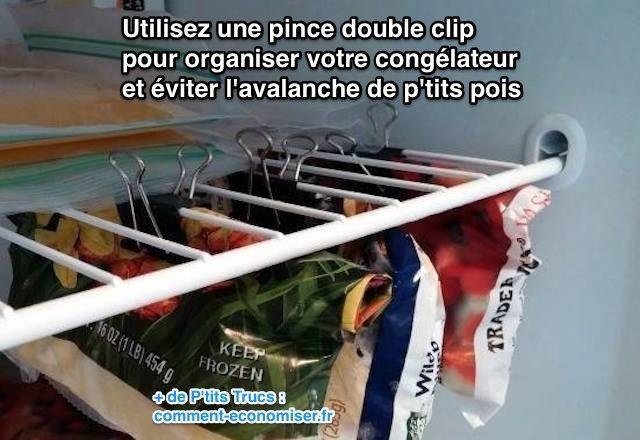 Utilisez une pince double clip pour organiser votre cong lateur et viter l 39 avalanche de p 39 tits - Comment decongeler un congelateur ...