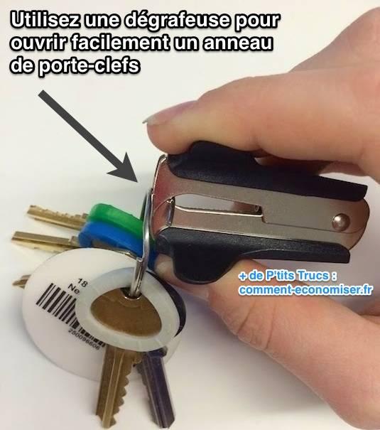 L 39 astuce pour ouvrir facilement un anneau de porte cl s - Comment faire un porte clef ...