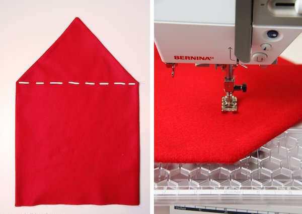 comment faire des housses de chaise en forme de bonnet de p re no l. Black Bedroom Furniture Sets. Home Design Ideas