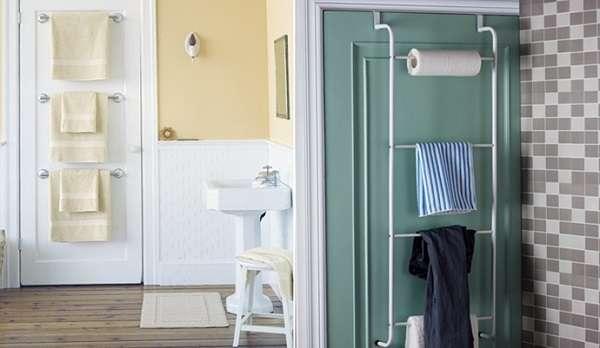 12 super id es de rangement pour mieux organiser votre for Porte essuie salle de bain