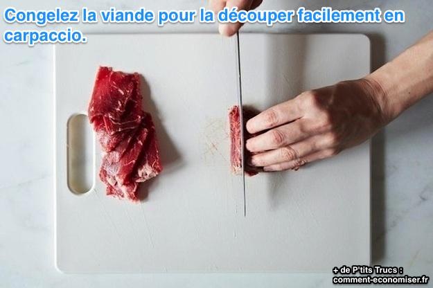 Couper la viande en carpaccio l 39 astuce que tous les bons - Comment couper de la viande congelee ...