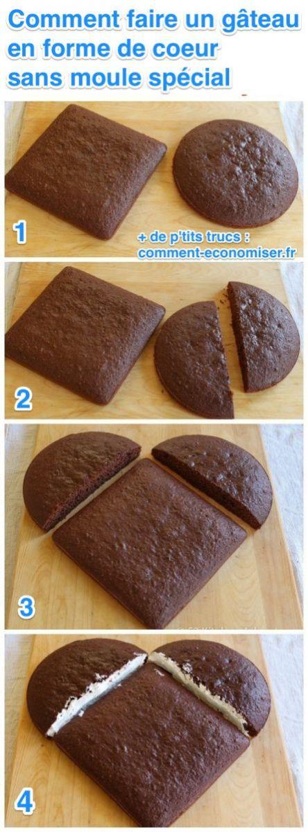 Voici comment faire un g teau en forme de coeur sans moule sp cial - Comment fabriquer un coeur ...