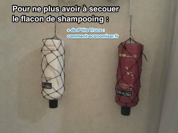l 39 astuce pour ne plus avoir secouer votre bouteille de shampooing. Black Bedroom Furniture Sets. Home Design Ideas