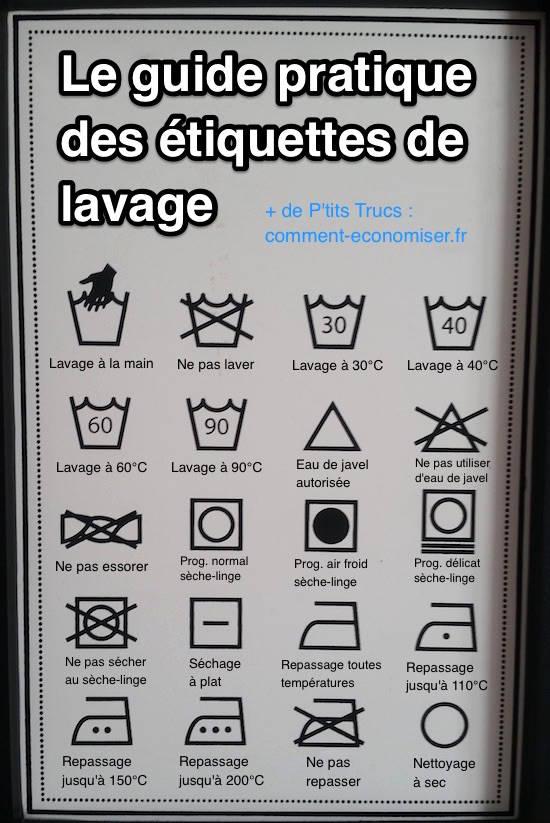 Tiquettes de lavage enfin un guide pour comprendre - Bac de lavage pour buanderie ...