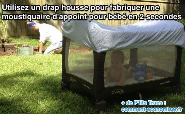 La moustiquaire parfaite pour votre b b astucieuse et for Fabriquer un drap housse