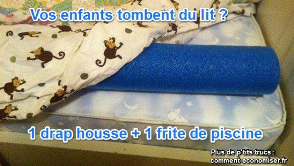 Comment emp cher vos enfants de tomber du lit - Comment plier un drap housse ...