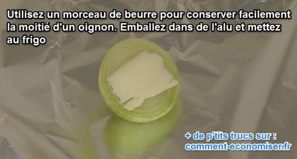 Voici comment conserver facilement la moiti d 39 un oignon - Comment couper un oignon sans pleurer ...