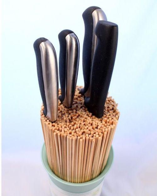 comment ranger ses couteaux de cuisine sans porte couteau. Black Bedroom Furniture Sets. Home Design Ideas
