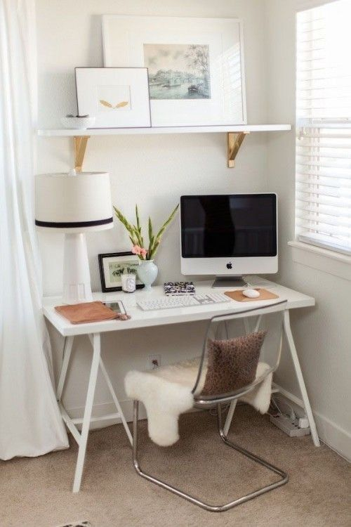 19 astuces pour rendre vos meubles ikea chics tendance - Designing small office space image ...
