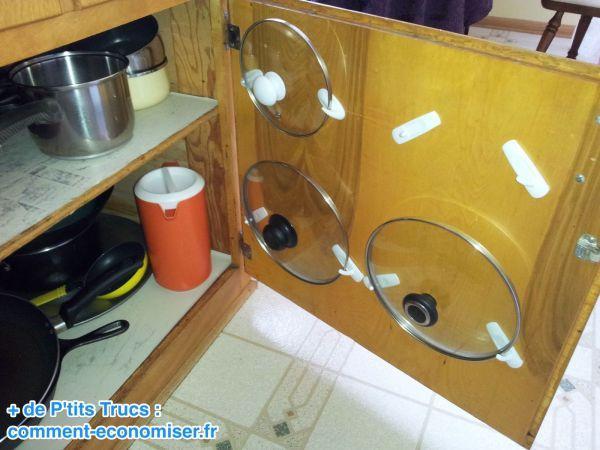 Une astuce pour ranger les couvercles quand on manque de - Des astuces pour la cuisine ...