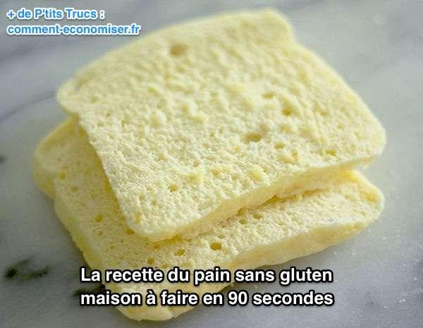 La recette facile du pain sans gluten faire en 90 secondes - Recette pain levure chimique ...