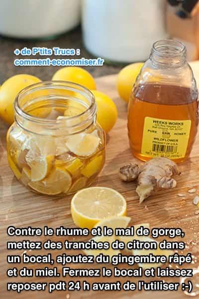Citron miel et gingembre le rem de qui marche contre le rhume et le mal de gorge - Remede de grand mere pipi au lit ...
