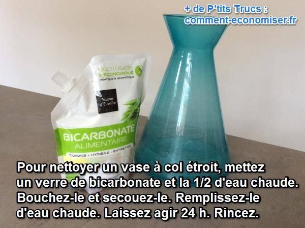 Comment nettoyer un vase troit l 39 astuce facile et sans - Nettoyer un four avec du bicarbonate ...