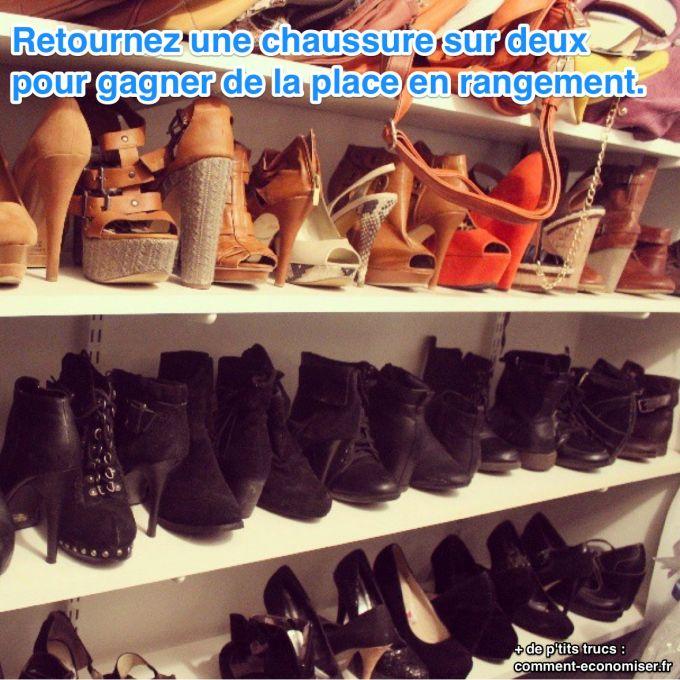 l astuce pour ranger ses chaussures talons et gagner de. Black Bedroom Furniture Sets. Home Design Ideas