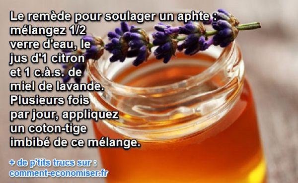 2 rem des naturels pour soulager les aphtes - Remede de grand mere pour assouplir le cuir ...