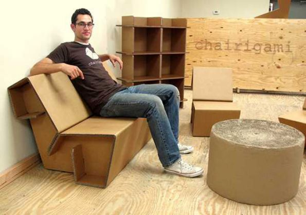 le carton une astuce d coration pas ch re et tendance. Black Bedroom Furniture Sets. Home Design Ideas