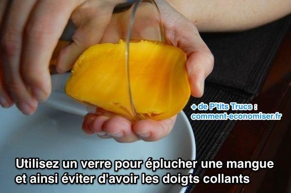 L 39 astuce pour plucher une mangue sans avoir les doigts collants - Faire pousser une mangue ...