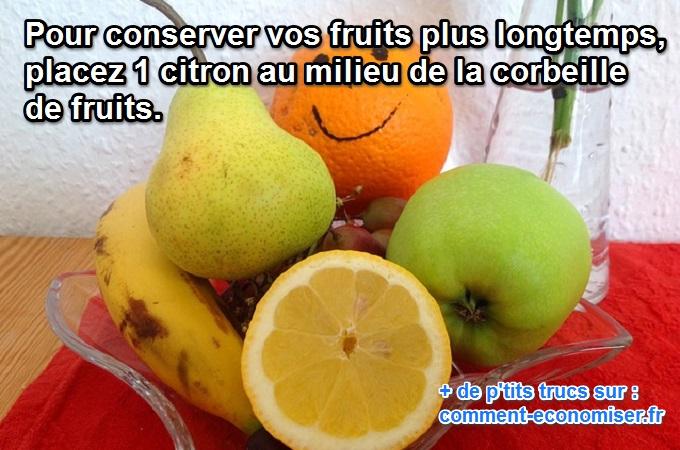L 39 astuce toute simple pour conserver vos fruits plus longtemps - Comment nettoyer un citron traite ...