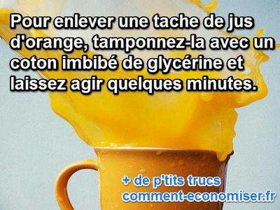 comment nettoyer une tache de jus d 39 orange facilement. Black Bedroom Furniture Sets. Home Design Ideas