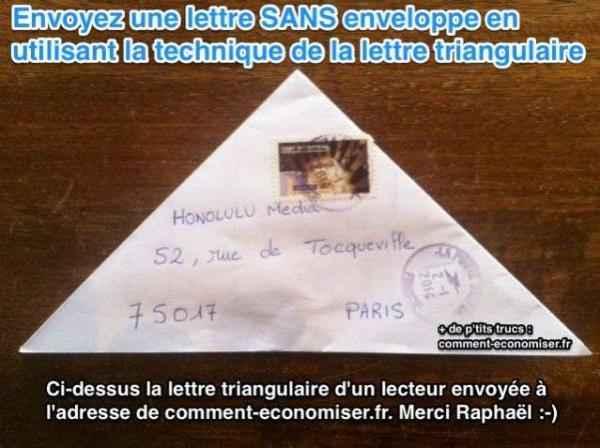 l u0026 39 astuce pour envoyer une lettre sans enveloppe