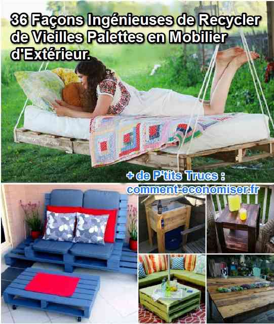 36 fa ons ing nieuses de recycler de vieilles palettes en mobilier d 39 ext rieur. Black Bedroom Furniture Sets. Home Design Ideas