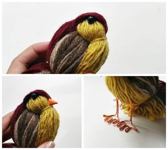oiseau en laine comment faire blog trotteur le blog de toutes vos humeurs. Black Bedroom Furniture Sets. Home Design Ideas