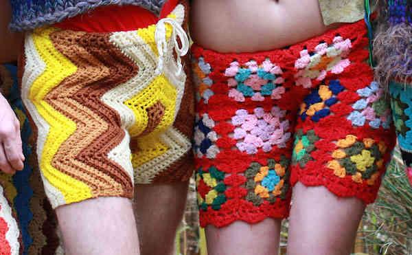 Shorts pour homme en crochet recyclés