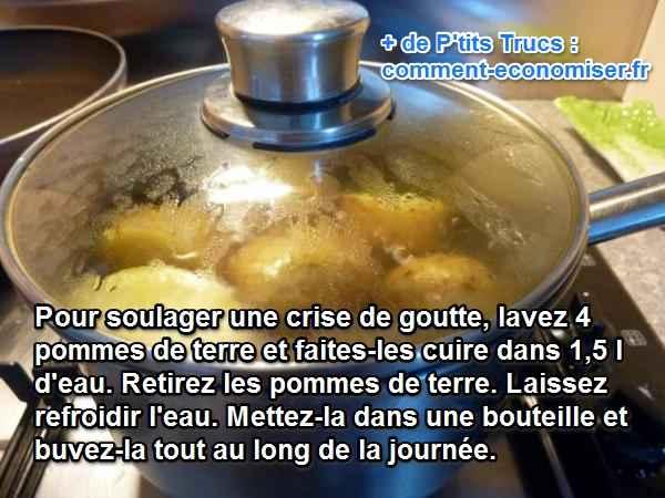 Crise de goutte soignez vous avec de la pomme de terre - Traitement pomme de terre ...