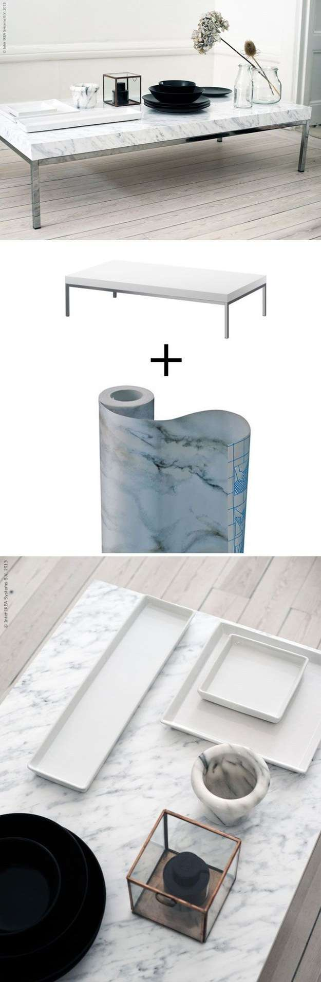 19 astuces pour rendre vos meubles ikea chics tendance for Relooker table basse ikea