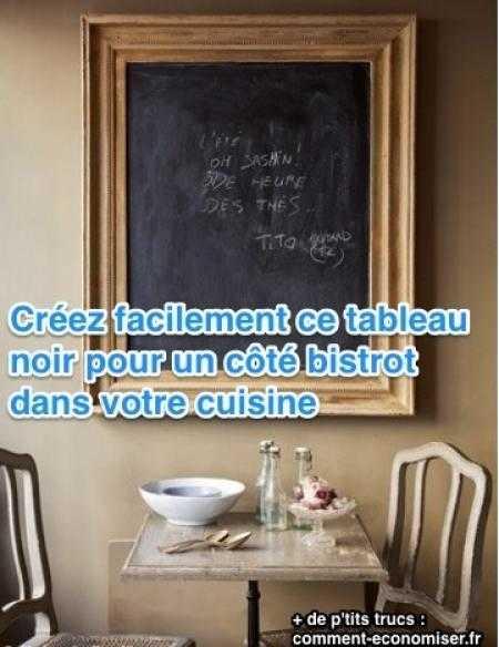 Id e d co diy un tableau noir bistrot dans ma cuisine for Tableau noir pour cuisine